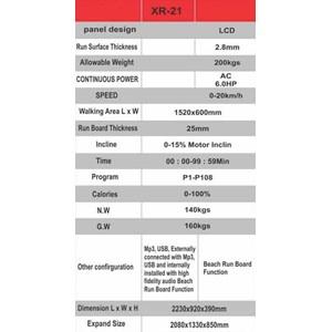 Treadmill X-Run Type XR-21 6 HP