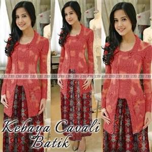 Jual Kebaya Cavali Batik Merah Harga Murah Medan oleh Qhenoy Shop 7cbd839016