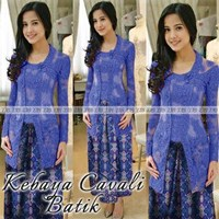 Kebaya Cavali Batik Biru