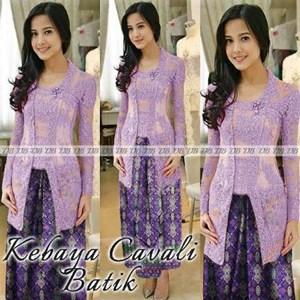 Jual Kebaya Cavali Batik Ungu Harga Murah Medan oleh Qhenoy Shop f5804d75e3
