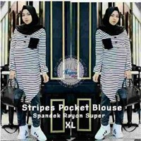 Stripes Pocket Blouse