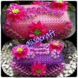 Tempat Tissue Bunga Variasi