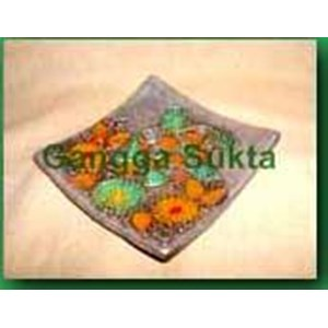 Ceramic Terracotta Quarter Turtle Motif Gold Painting