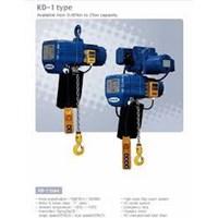 KUKDONG ELECTRIC CHAIN HOIST TYPE KD1 CAPACITY 0.5T - 6M
