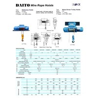 Jual DAITO ELECTRIC WIRE ROPE HOIST 2