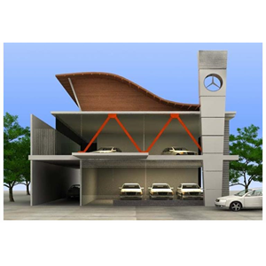 CONTOH BANGUNAN MERCEDES BENZ CLASSIC SHOWROOM AT SERPONG By PT. Jarrot Triesoonu Architect