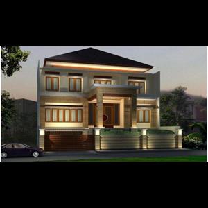 CONTOH BANGUNAN RUMAH CATAMARAN PERMAI V NO 15 PIK By PT. Jarrot Triesoonu Architect