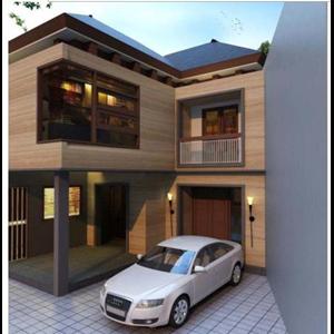 CONTOH BANGUNAN RUMAH PURI BINTARO By Jarrot Triesoonu Architect