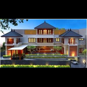 CONTOH BANGUNAN RUMAH DI PERMATA HIJAU. JAKARTA SELATAN.  By Jarrot Triesoonu Architect