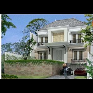 Contoh Bangunan Rumah Aristides Trampa .  Jeruk Purut. SouthJakarta  By Jarrot Triesoonu Architect