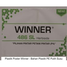 cetak plastik poster winner