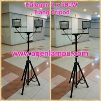 Lampu Sorot Halogen Portable + Tiang Tripod