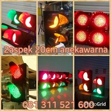 Lampu Traffic Light 2 Aspek Diameter 20Cm LED