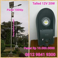 LED Street LAMP 12V 20W Talled Solar Cell