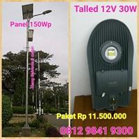 Lampu Jalan LED 12V 30W Talled Solar Cell