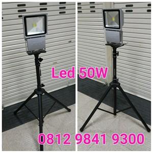 Lampu Sorot LED 50W + Tripod Stand