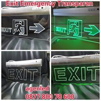 Exit LED Transparent