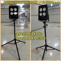 Lampu Sorot LED 1 x 200W Tripod