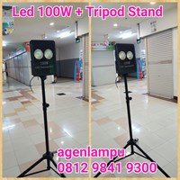 Lampu Sorot LED 100W Hitam