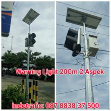 Lampu LED Warning Light Solar Cell
