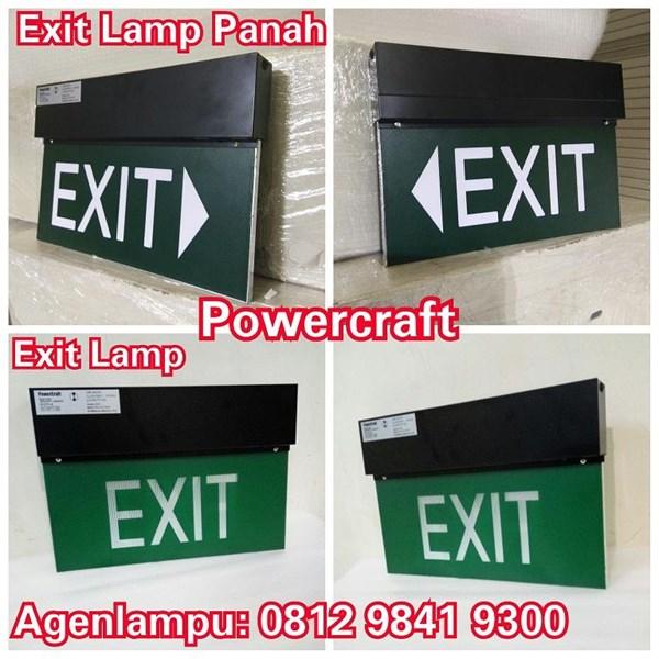 Lampu TL Emergency EXIT Powercraft