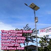 Lampu Jalan PJU LED 60W Solar Cell 1
