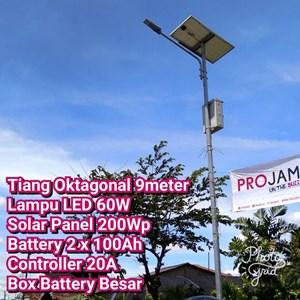 Lampu Jalan PJU LED 60W Solar Cell