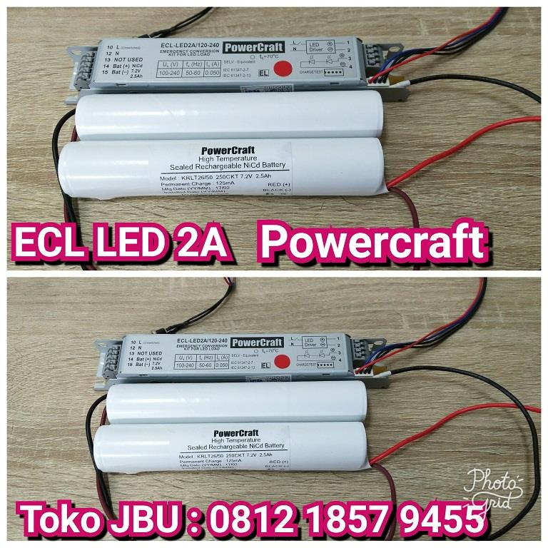Jual Lampu LED Emergency Battery ECL LED2A Harga Murah