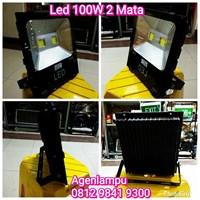 Lampu LED Sorot 100W 2 Mata