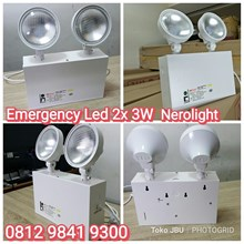 Lampu LED Emergency 2 x3W Nerolight