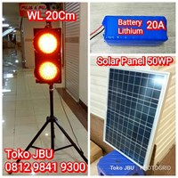 Lampu Flashing LED Plus Solar Cell 1