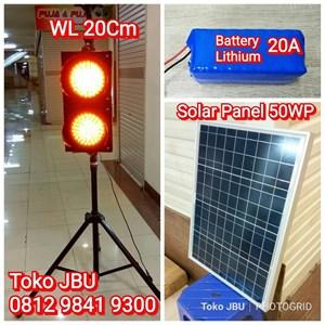 Lampu Flashing LED Plus Solar Cell