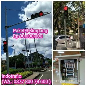 Tiang Traffic Light Paket 3 Simpang