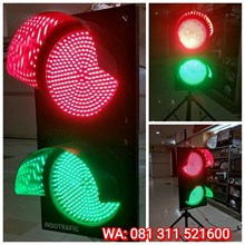 Lampu Traffic Light Merah Hijau 30cm