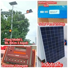 Tiang Traffic Light Paket Lithium