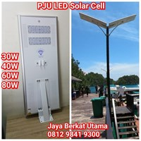 Lampu Jalan LED Tenaga Surya All in One