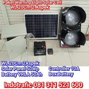 Lampu Traffic Light  Paket WL Solar Cell