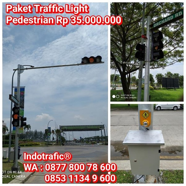 Lampu Traffic Light  Paket Pedestrian Lengkap