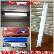 Lampu TL LED 8W Plus Battere Emergency