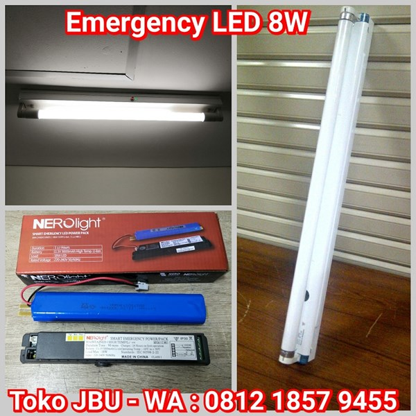 Lampu TL LED 8W Plus Battere Emergency