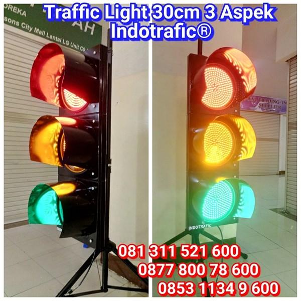 Lampu Traffic Light LED 30cm 3 Aspek