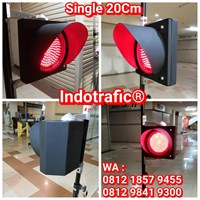 Lampu Traffic Light  Single 20cm Merah