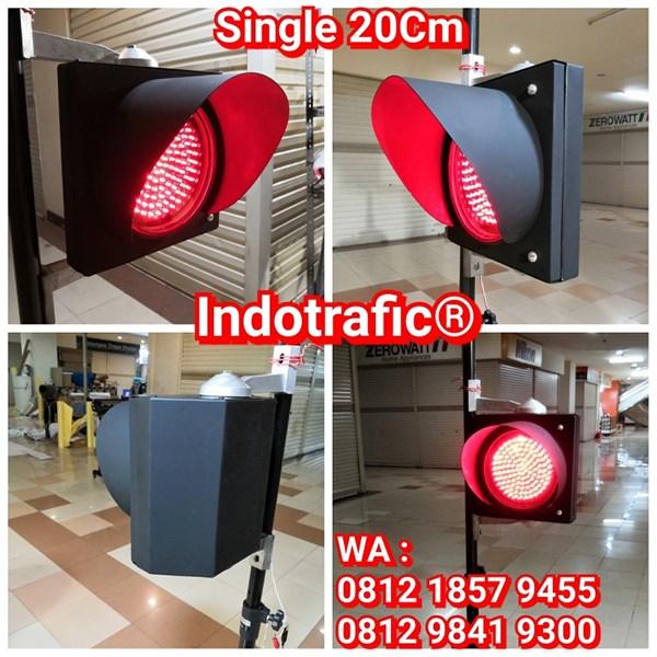Lampu Traffic Light  Single 20cm Merah