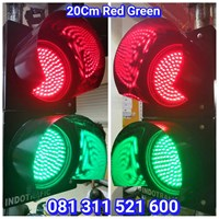 Lampu Traffic Light 2 Aspek Merah Hijau