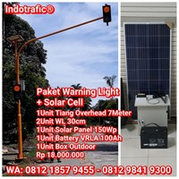Lampu Traffic Light  Solar Cell