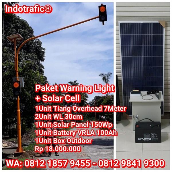 Lampu Traffic Light  Solar Cell