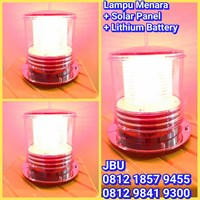 Lampu Tower Solar Cell Red