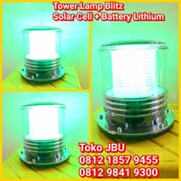 Lampu Tower Solar Cell Green