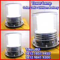 Solar Cell Tower Lamp White