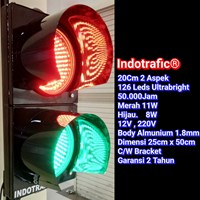 Lampu Traffic Light 20cm RG 20